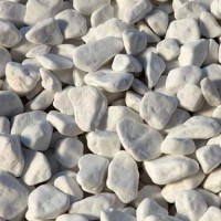 PEBBLES WHITE BIG BAG  1500 KG  DIMENSIONS  1-3 CM  6-9 CM PEBBLES & STONES NATURAL