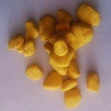 PEBBLES COLOR 3-5MM BAG 1 KG YELLOW