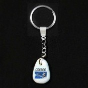 Keychain with pebble print at wholesale prices